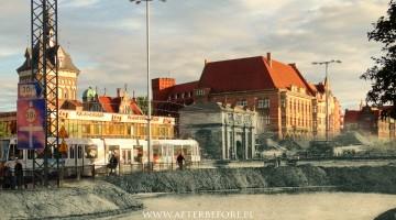 Rozbiórka wałów obronnych w Gdańsku 1895/2016